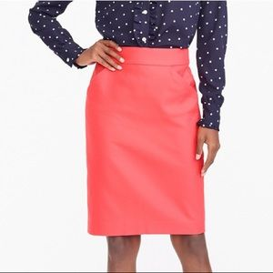 J. Crew The Pencil Skirt in Coral New With Tags